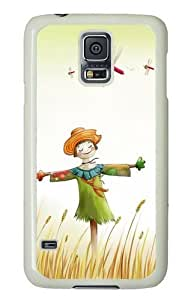 Samsung Galaxy S5 Case and Cover - Happy Scarecrow PC Hard Case Cover for Samsung Galaxy S5 White