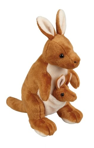 Cuddly Soft Kangaroo with Joey Soft Toy 28cm