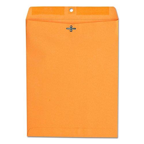 (Universal 35267 Kraft Clasp Envelope, Center Seam, 28lb, 10 x 13, Brown Kraft, Box of 100)