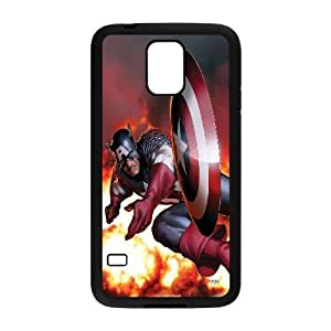 FOR Samsung Galaxy S5 -(DXJ PHONE CASE)-Super Hero Caption American-PATTERN 11