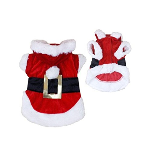 deesee tm christmas dog clothes santa doggy costumes pet apparel new design m animals. Black Bedroom Furniture Sets. Home Design Ideas