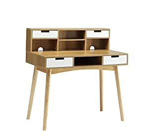Amazon Com Convenience Concepts Oslo Deluxe Desk With