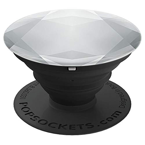 Pop socket Multi-Function Phone Stands Pure Silver Diamond - PopSockets Grip and Stand for Phones and Tablets