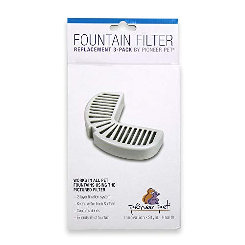 MFR BackOrder 051017 Pioneer Pet Replacement Filters for Ceramic and Stainless Steel Fountains (3 Pack)