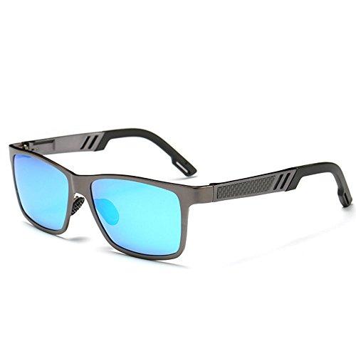 de soleil pour femmes blue vintage Sun en unisexes aluminium polarisées de hommes Lunettes des HUnw6xU