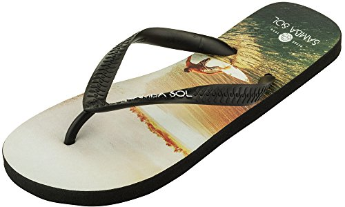 Samba Sol Mens Fashion Collection Flip Flops - Fashionable and Comfortable. Trendy and Classic Sandals in Womens, Mens, and Kids. Surfer