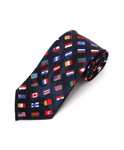 Parquet Worlds Flags Novelty Tie