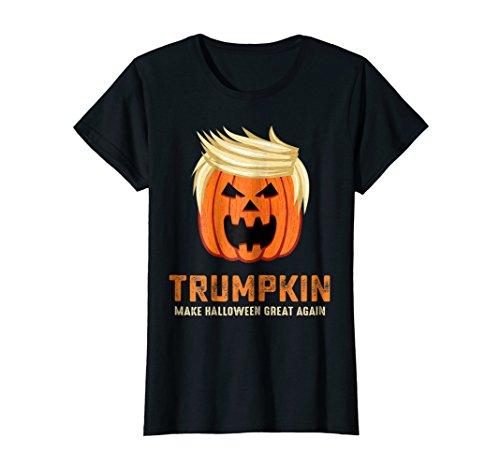 Womens Halloween Trumpkin Funny T-Shirt XL Black -