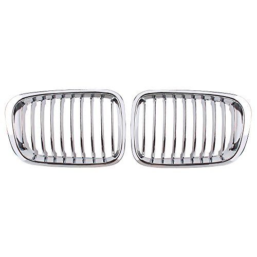Heart Horse Front Racing Grilles Compatible With BMW E46 3 Series 4 Door Sedan 320i 323i 325i 328i 330i 1998-2001