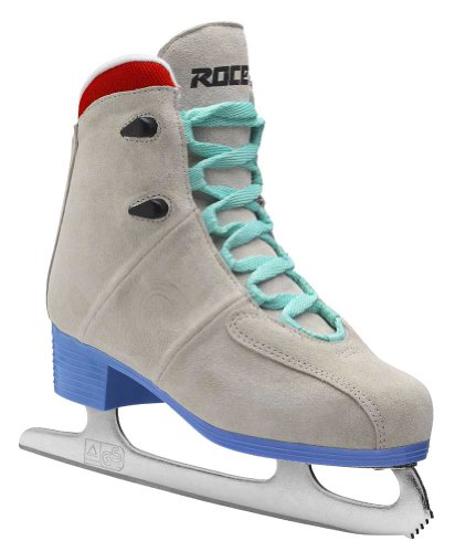 Roces Women's Upbeat Ice Skate Superior Italian Style 450627 00003 (Cr/Blue,10)