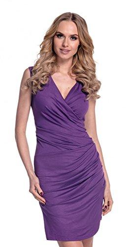 Glamour Empire Para Mujer. Vestido ajustado con detalle fruncido. 045 Púrpura