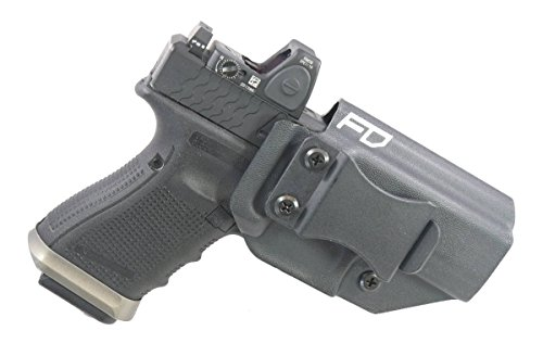 Fierce Defender IWB Kydex Holster Glock 19 23 32 w/Optic Cut Winter Warrior Series -MADE IN USA- (BLK)
