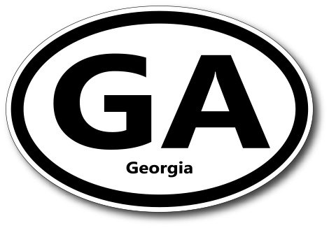 GA Georgia Car Magnet US State Oval Refrigerator Locker SUV Heavy Duty Waterproof…