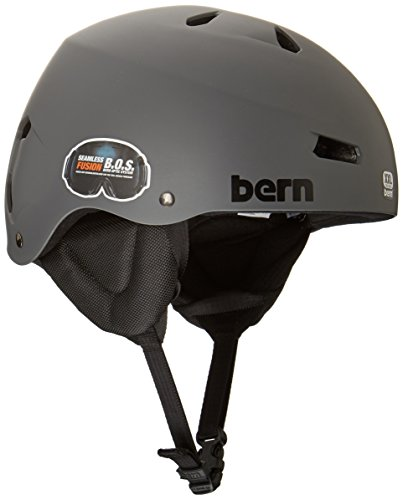 Bern Team Macon Helmet (Matte Grey, X-Large)