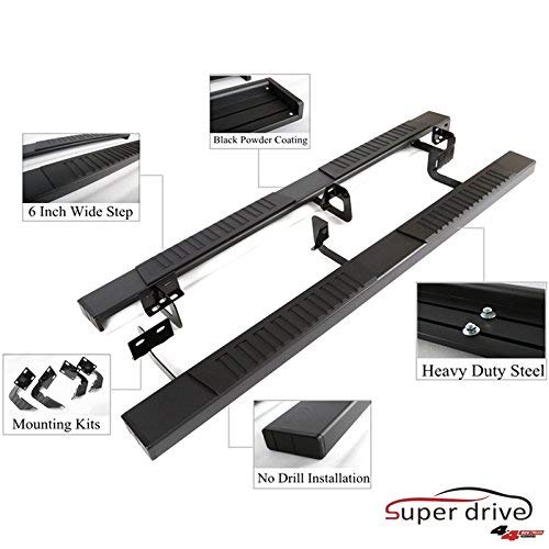 Super Drive C08S0838B-Running Boards Compatible 2019-2020 Dodge Ram Crew Cab New Body ONLY 83''Long Black Powder Coated Side Steps Side Bars with 6' Non-Slip Black Pad(NOT for Old Body)