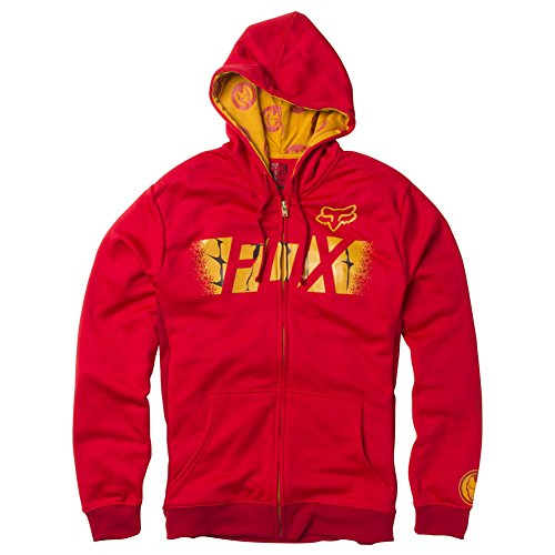 FOX RACING X MARVEL Iron Man Zip Fleece Hoody Red/Gold - Men's Size LARGE - Fox Racing Icon