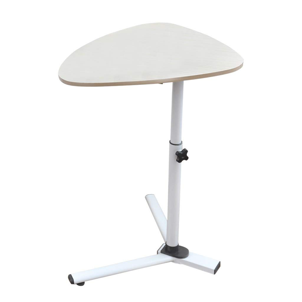 Adjustable Height Sofa End Table, Raised And Lowered Mobile Side Snack Tray Lazy Laptop Desk Coffee Table for Living Room, Perfect use for Cocktail Table, Sit to Stand Desk, Side Table (White) by MaiKaili-home Fast logistics 5-7 days to arrive