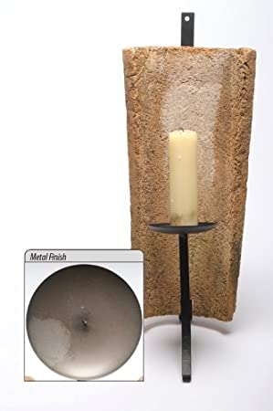 spanish recycled roof tile candle sconce gun metal finish amazon