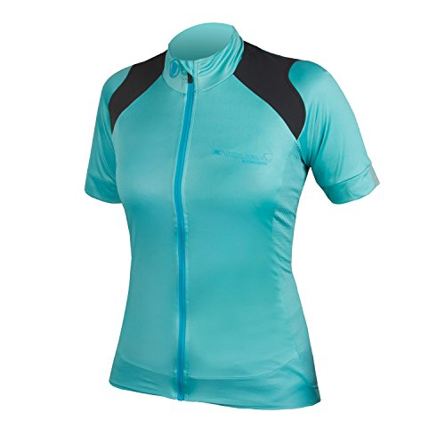Endura Womens Hyperon Short Sleeve Cycling Jersey Turquoise, Large