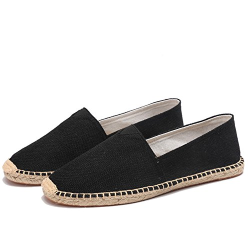 (Women Loafers Classic Casual Canvas Slip on Fashion Shoes Sneakers(Black 41/10.5 B(M) US Women))