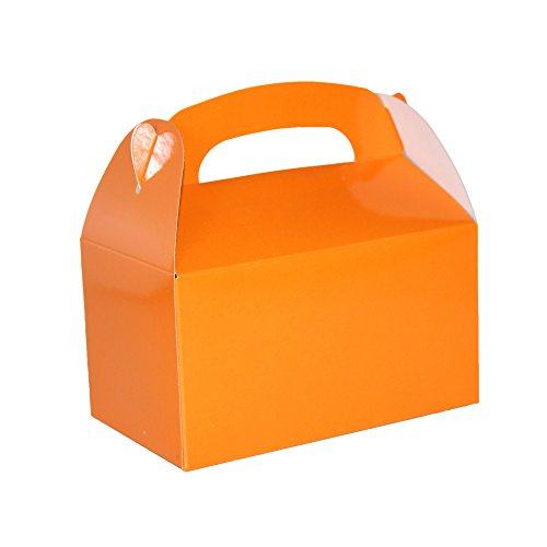 Orange Bright Color Treat Boxes (Pack of 12) - Play Kreative TM (Orange)