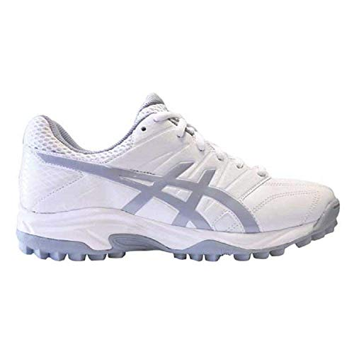 ASICS Women's Lethal MP7 Field Hockey Shoes, Mid White/Grey Ea, Size 8.5 (Best Field Hockey Turf Shoes)