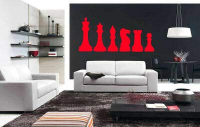 Yilooom Wall Art Vinyl Sticker Room Decal Mural Decor Chess Chessmen Table Game