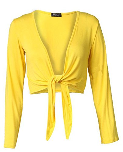 Fashion Charming Charming Cardigan Cardigan Giallo Fashion Donna q7HgU