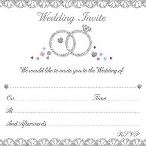 Anillos de boda invitaciones y sobres (10pk: Amazon.es ...