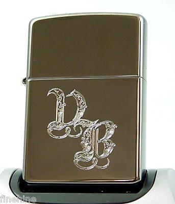 zippo personalizzato  Zippo - Accendino Zippo personalizzato Black Ice, con monogramma ...