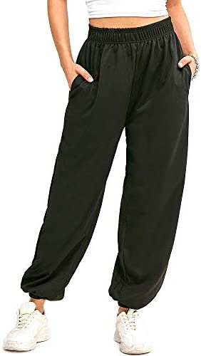 ZAFUL Women's High Waisted Solid Jogger Pants Outdoor Cargo Pants