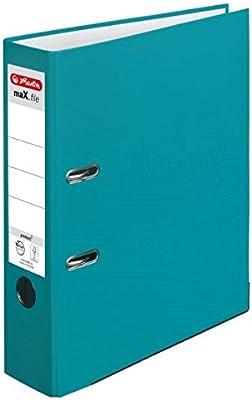 Herlitz 50015931 Ordner maX.file protect A4 8 cm Caribbean T/ürkis