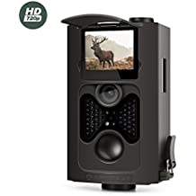 "Amcrest 720P HD Game and Trail Camera - 8MP Dynamic Capture, Integrated 2"" LCD Screen, High-Sensitivity Motion Detection with Long Range Infrared LED Night Vision up to 65ft (ATC-802)"