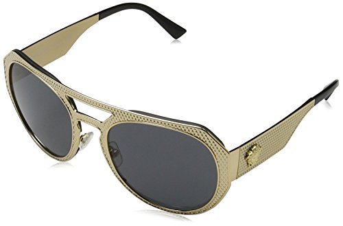 Versace Women's VE2175 Sunglasses Gold / Grey - Versace Price Eyewear