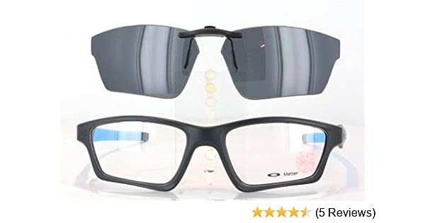 db4277d290 Amazon.com  OAKLEY CROSSLINK SWEEP OX8031-55X18 POLARIZED CLIP-ON SUNGLASSES  (Frame NOT Included)  Health   Personal Care