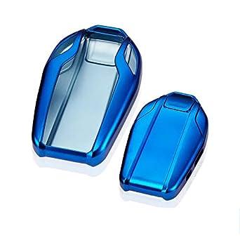 Soft TPU Smart Display LCD Remote Key Fob case Cover for BMW 5 Series red TM 2018 528Li 530Li 540Li,BMW 2016 2017 2018 7 Series G11 G12 Royalfox
