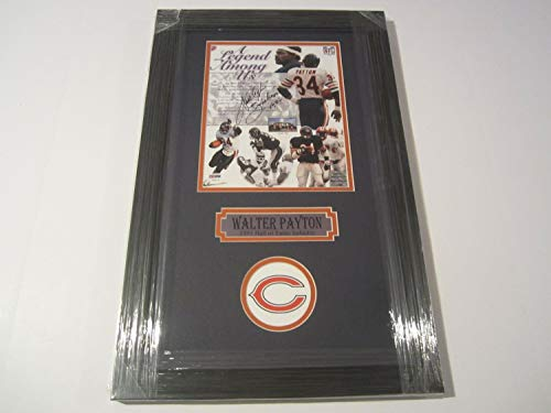 (Walter Payton Chicago Bears HOF Autographed Signed 8x10 Framed Photo Memorabilia - PSA/DNA Authentic)