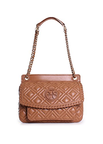 c42289757026 Tory Burch Marion Quilted Small Saddle Shoulder Bag in Tiger s Eye ...