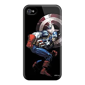 TxXpjNH-37 Case Cover Protector For Iphone 4/4s Captain America Case