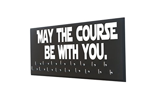 Race bib and medal display - MAY THE COURSE BE WITH YOU -...