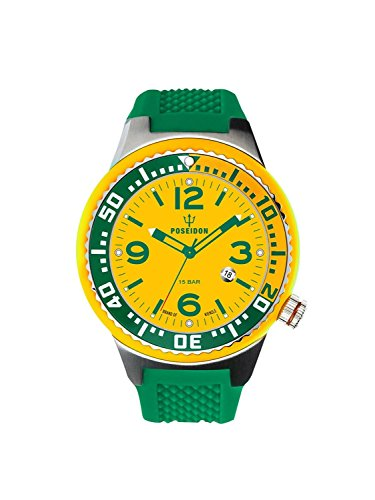 Kienzle Poseidon Men's S Slim Watch - Green and Yellow
