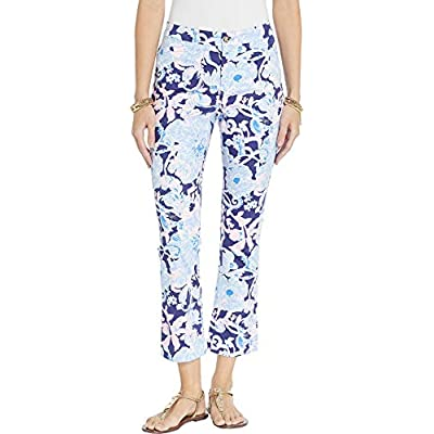 Lilly Pulitzer Kelly High-Rise Crop Flare Pants Bright Navy Amore Please 0 at  Women's Clothing store