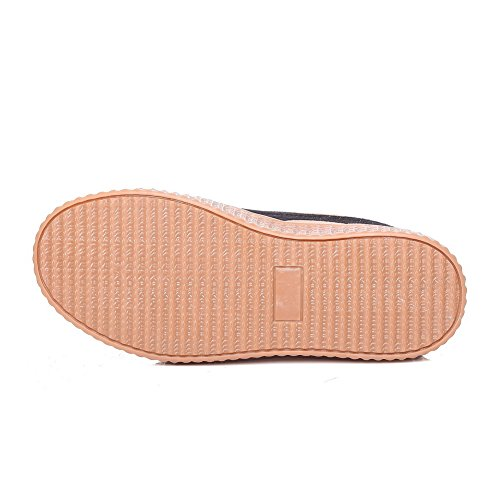 Balamasa Mesdames Bandage Assorti Couleur Plate-forme Uréthane Chaussures De Marche Café