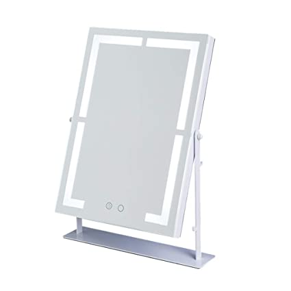 Espejo de maquillaje, cuadrado con luz LED puede ser de 360 ...