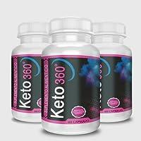 Keto360 3 Original de Shark Tank - 3 Meses de Tratamiento - 60 cápsulas - Keto 360