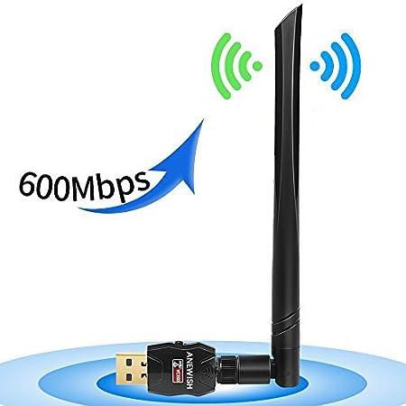 ANEWISH® Adaptador WiFi USB G ac Antena WiFi USB dBi Largo Alcance