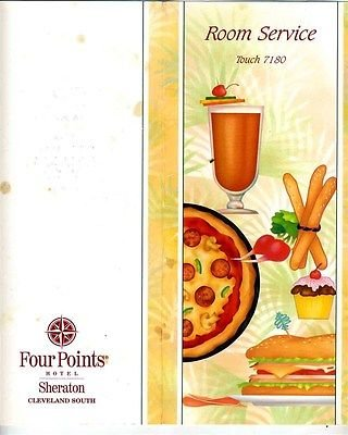 (Four Points Hotel Sheraton Cleveland South Room Service Menu)