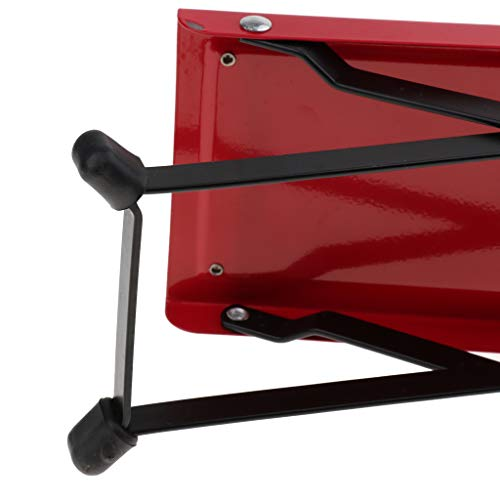 Baosity Foldable Metal Guitar Foot Rest Anti-slip Stand 4-Level for Guitar Player - Red by Baosity (Image #4)