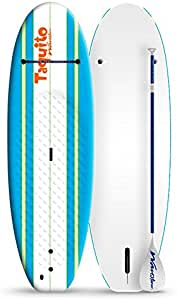Wavestorm 7ft Stand Up Paddleboard // Foam Wax Free Soft Top SUP for Adults and Kids of all levels of Paddling