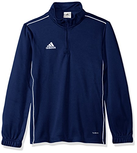 - adidas Unisex Youth Soccer Core18 Training Top, Dark Blue/White, X-Small
